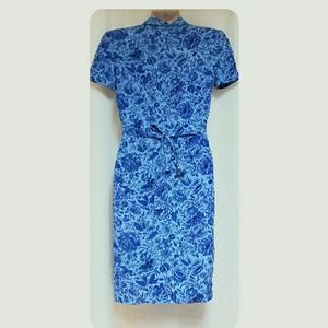 Maggie London Dresses - Maggie London 100% Silk Dress Blue Size 8